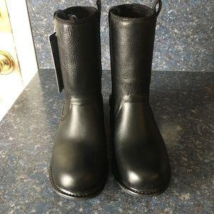 BOGS Black MASON Leather Rain Boot-NEW w/ Tags 10